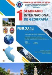 I SEMINARIO INTERNACIONAL DE GEOGRAFIA - UNIVERSIDAD NACIONAL DE PIURA